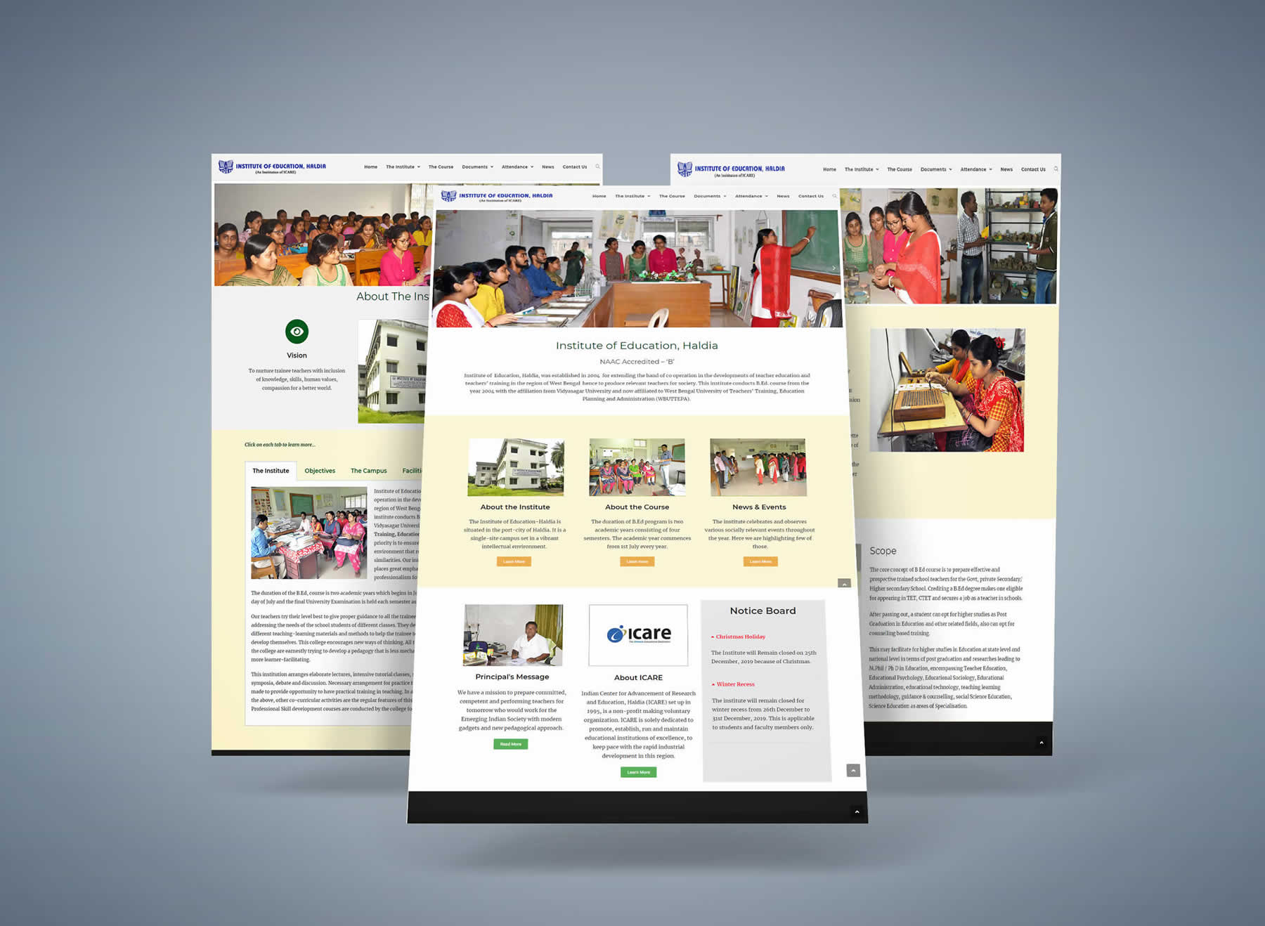 Institute of Education, Haldia website
